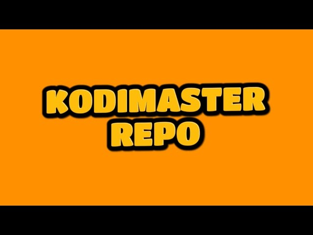 KODIMASTER REPO – HOW TO INSTALL
