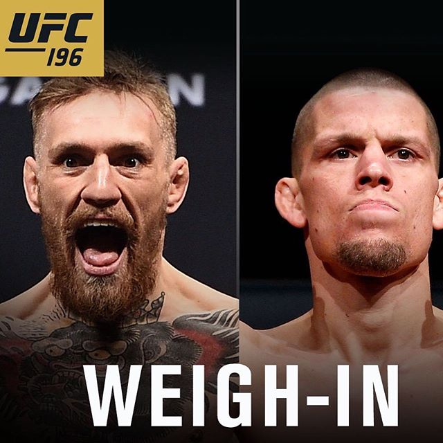 McGregor vs Diaz weight in