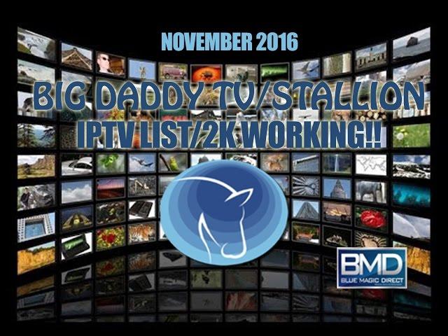 Big Daddy TV   Stallion 3.2 IPTV List 2K Streaming   Sky