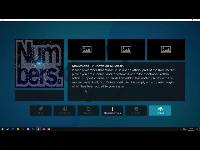 How to install NuMb3r5 kodi addon!