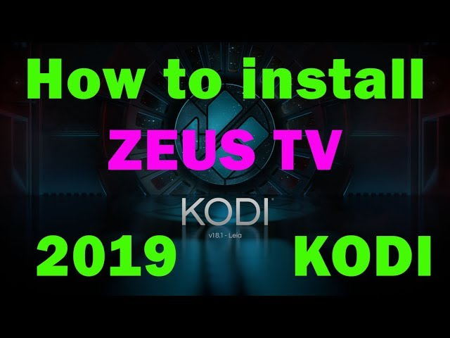 How to install ZEUS TV addon KODI Firestick IPTV Live TV