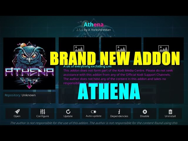 BRAND NEW ATHENA ADDON KODI FOR PC, Mac, Fire Stick,