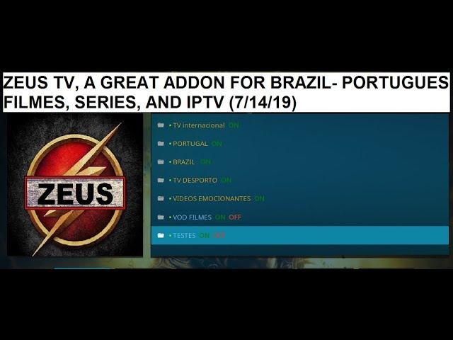 ZEUS TV, A GREAT ADDON FOR PORTUGUESE – BRAZILIAN MOVIES,