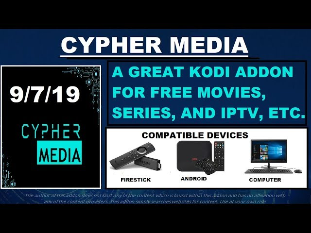 CYPHER MEDIA, A GREAT KODI ADDON FOR FREE MOVIES, SERIES,
