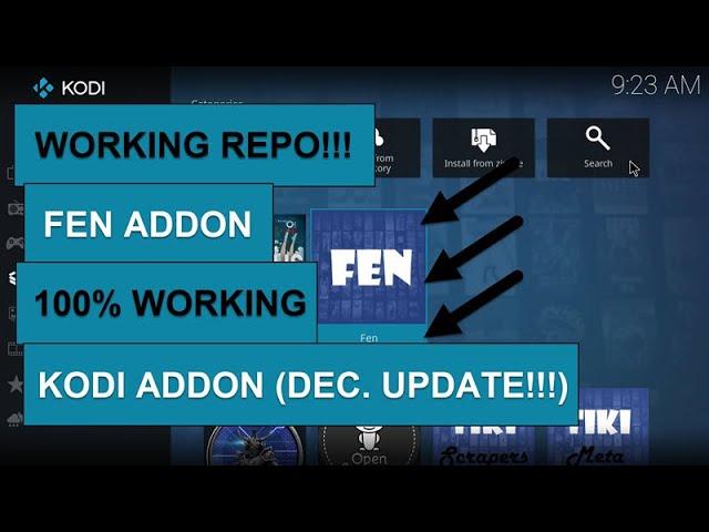 FEN KODI ADDON – 100% WORKING STREAMS – UPDATED FOR DEC.