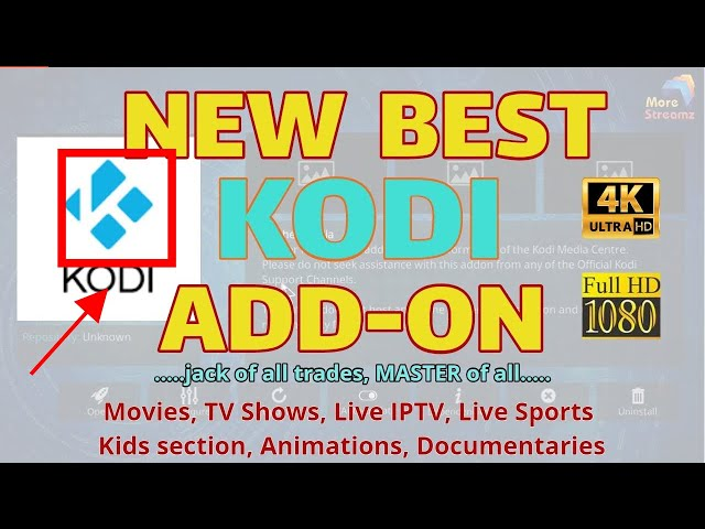 install new best addon for kodi