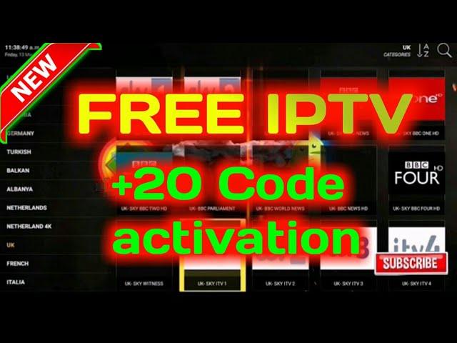 Free iptv app +20 Code activation..