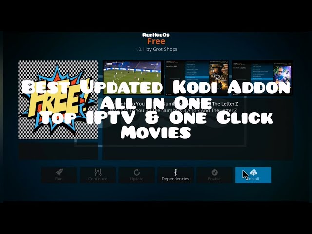 Best Free IPTV & One Click Movies Kodi Addon / All in One