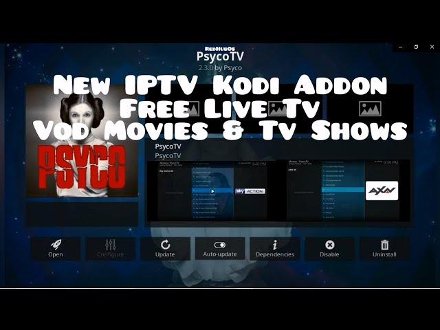Premium IPTV Kodi Addon / Free Live World Entertanment &